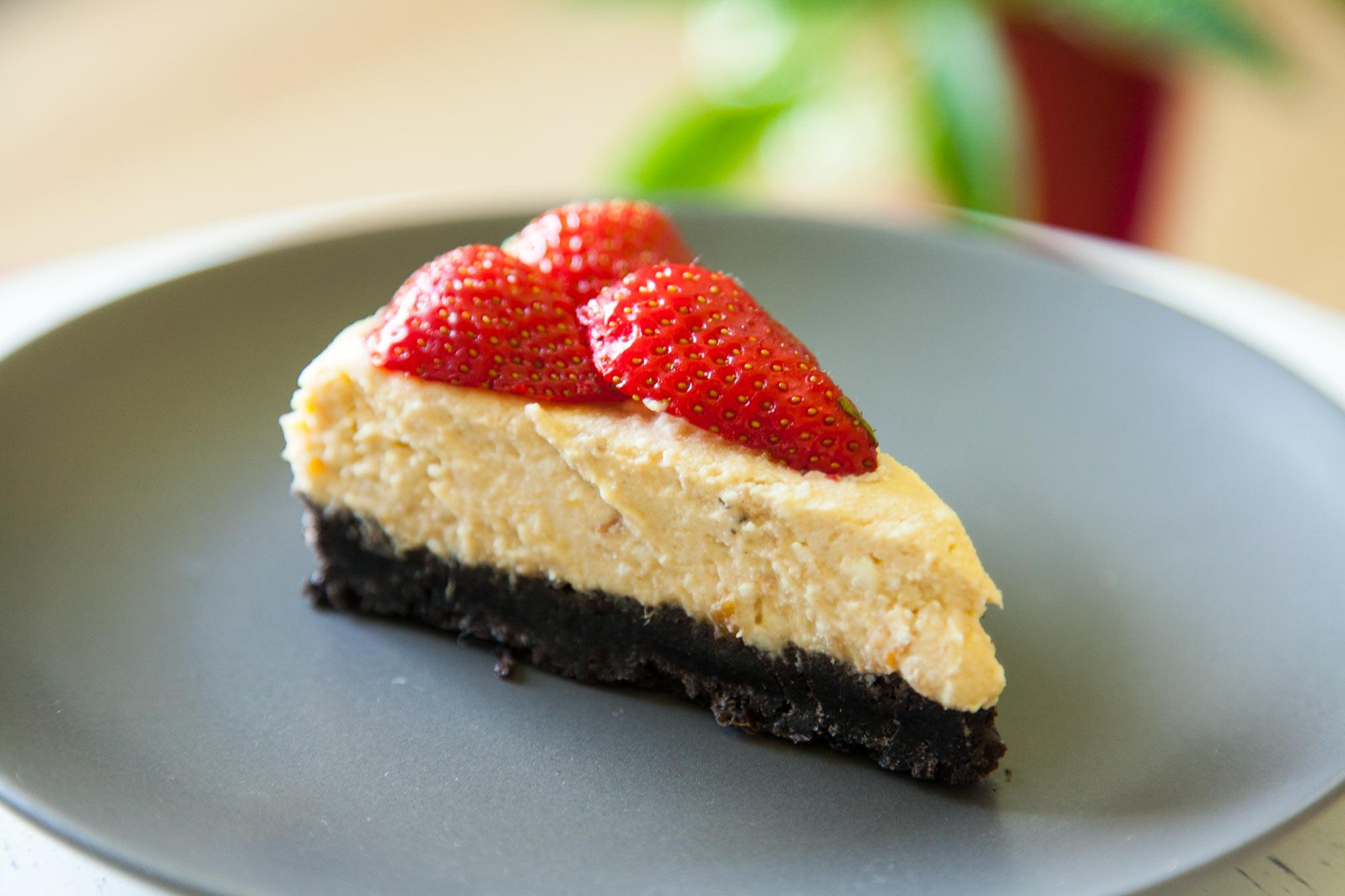 Breskvin oreo cheesecake