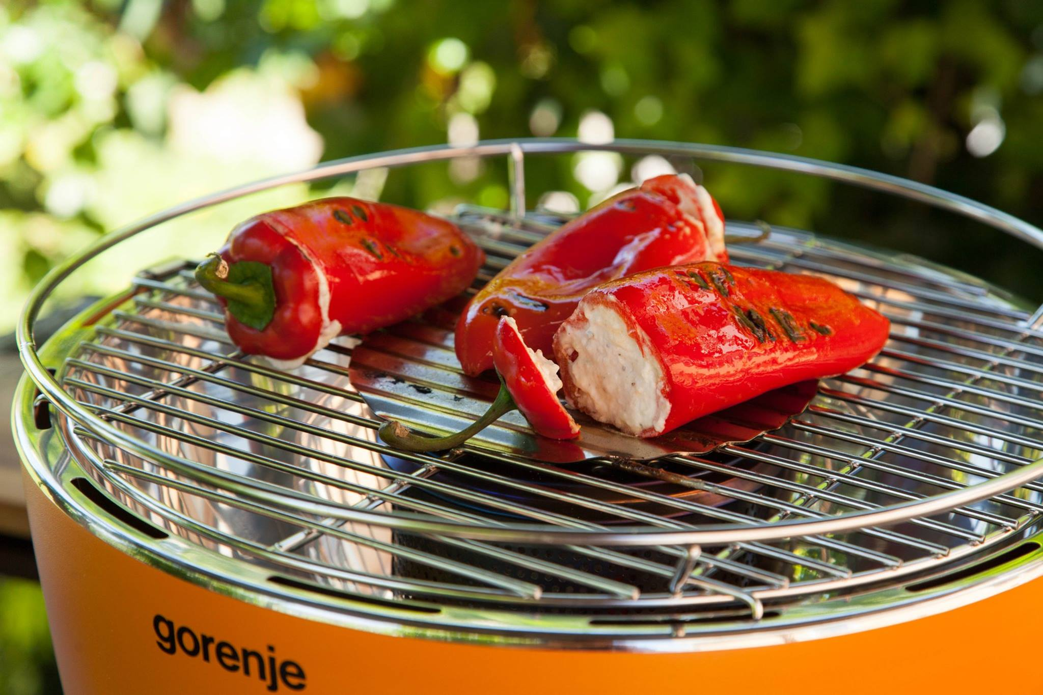 Polnjena paprika z rikoto na žaru
