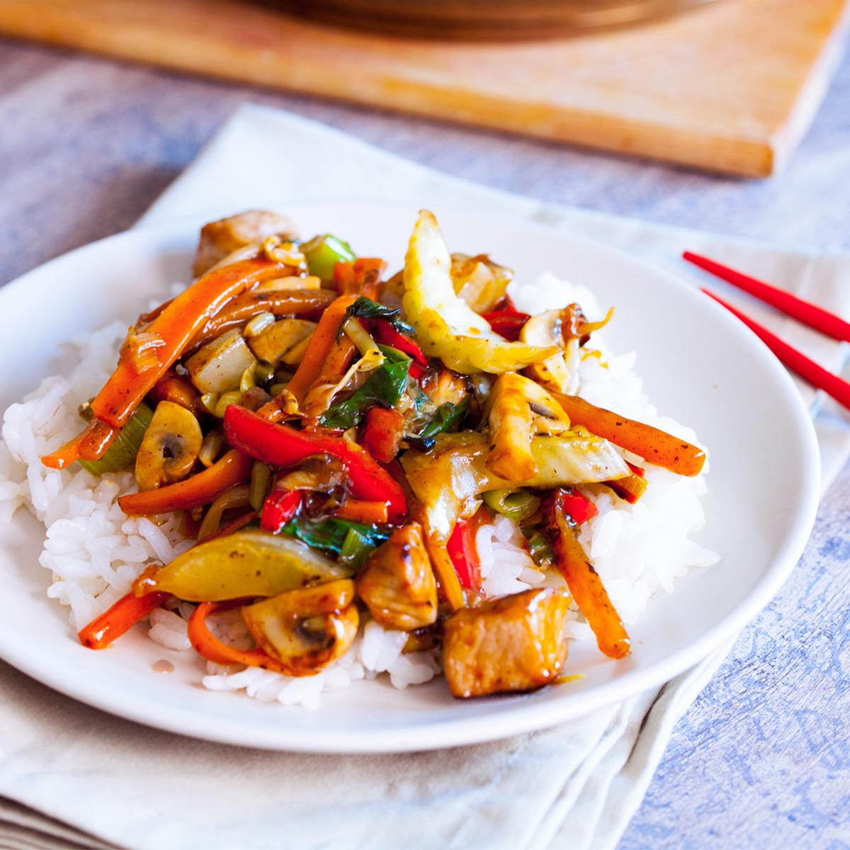 Chop suey s svinjino