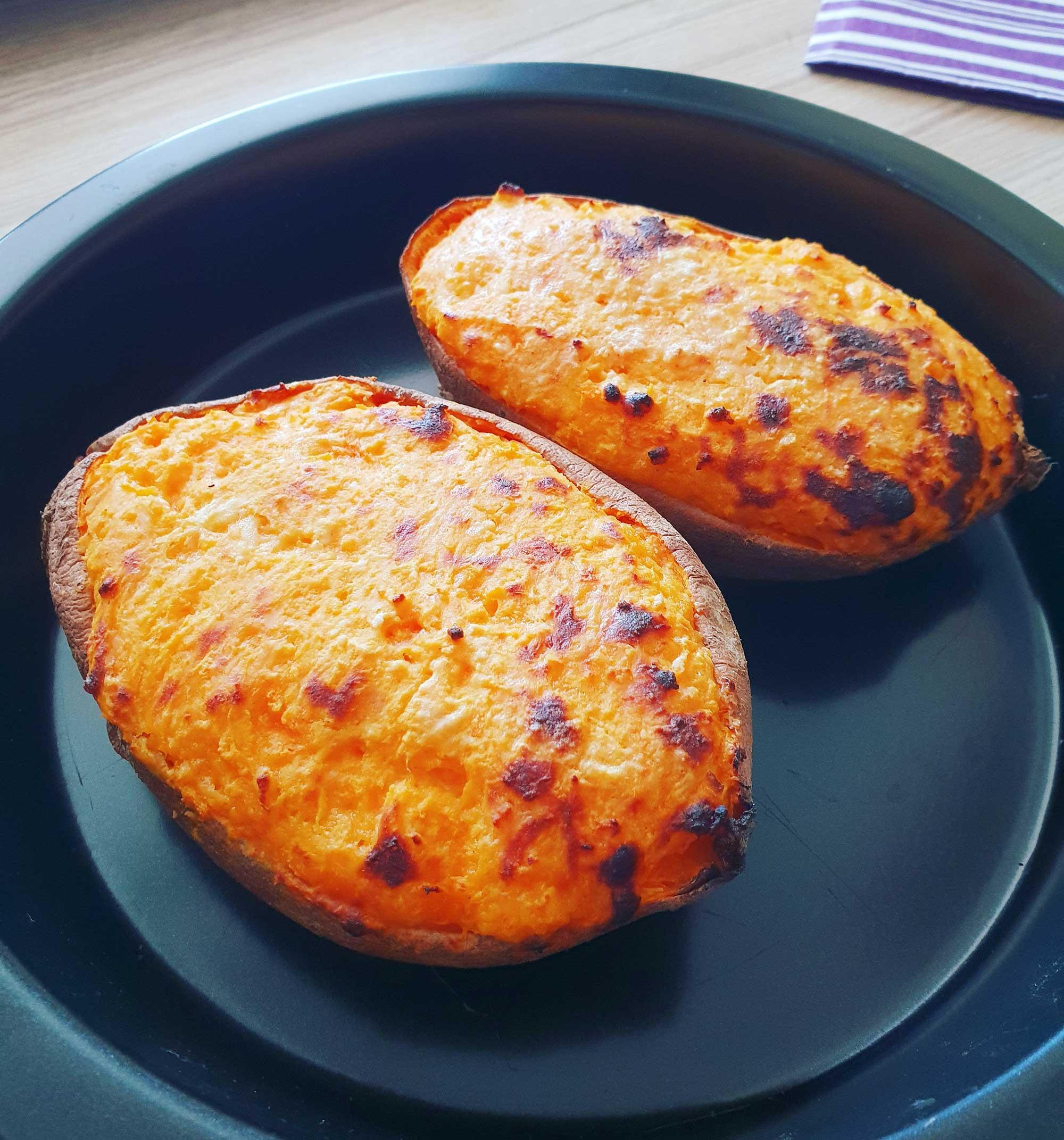 Sladek krompir s sirom skuto parmezanom