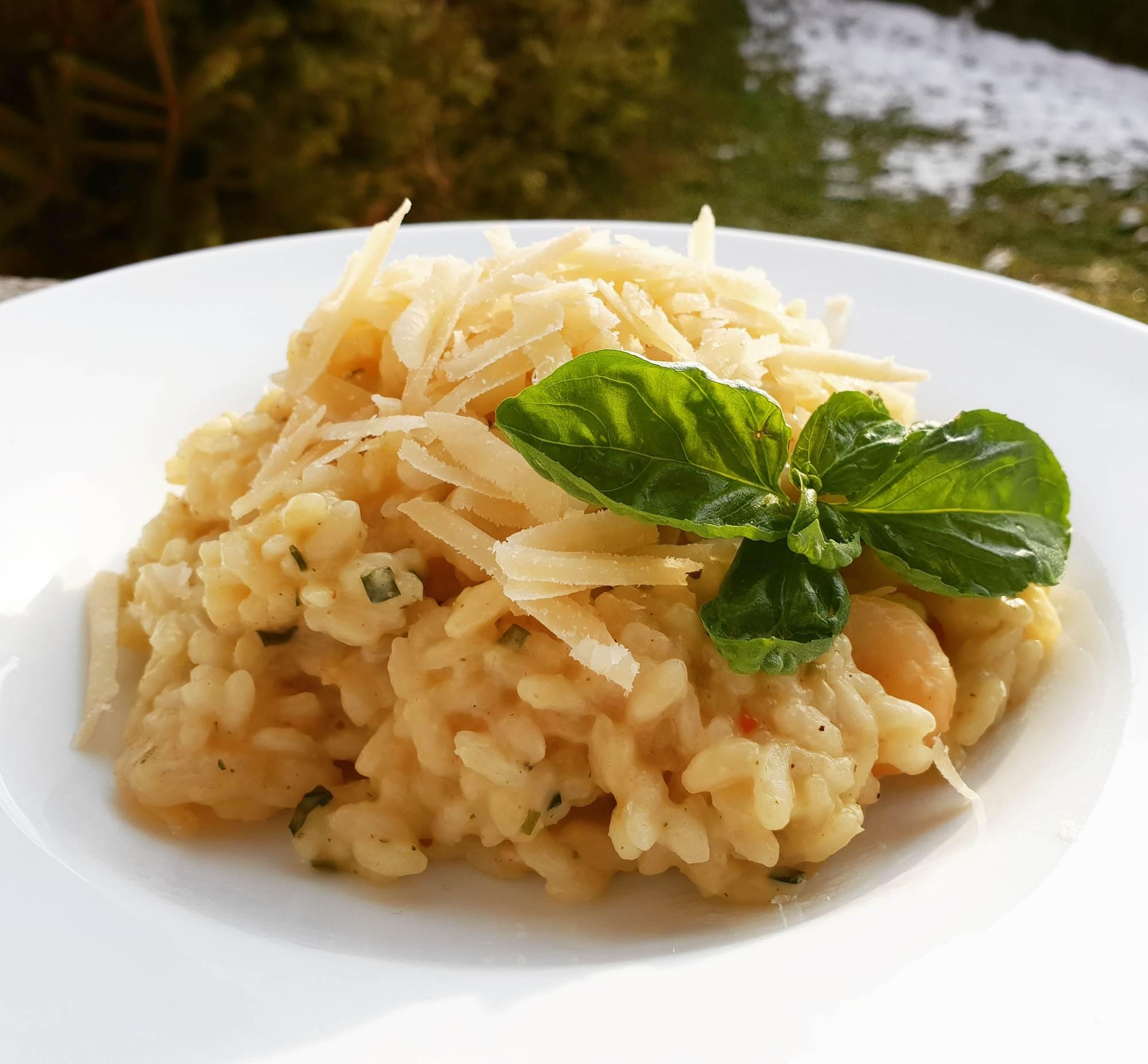Rižota z gamberi