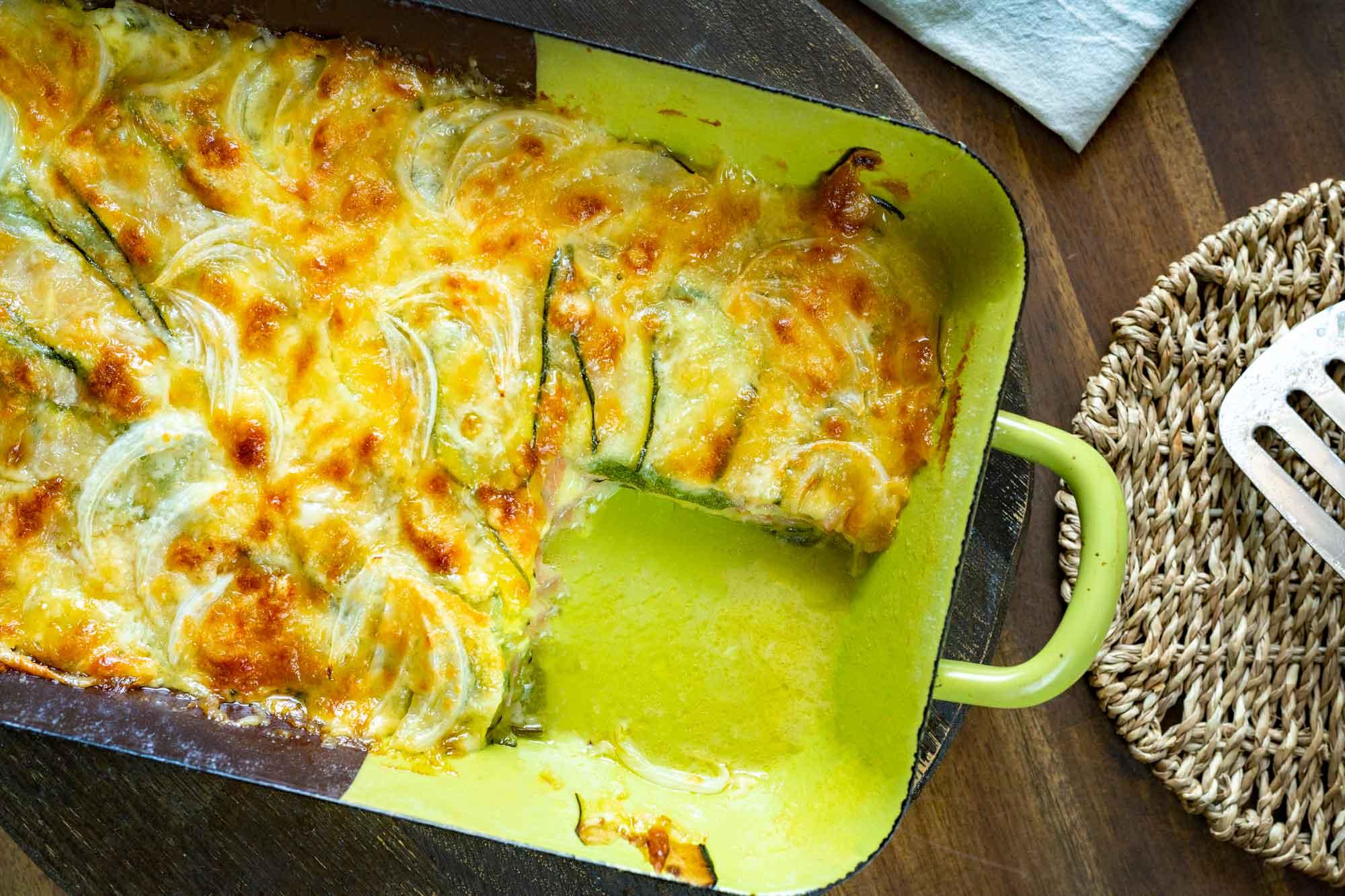 Bučkina parmigiana s kuhanim pršutom