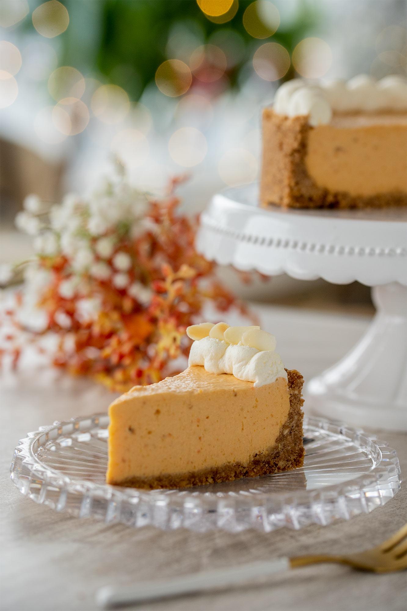 Cheesecake s sladkim krompirjem in misom