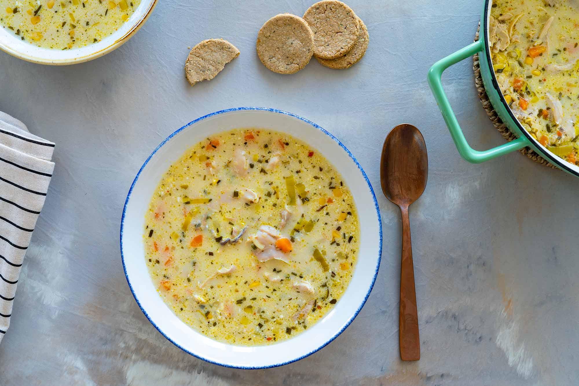 Piščančja juha z zelenjavo