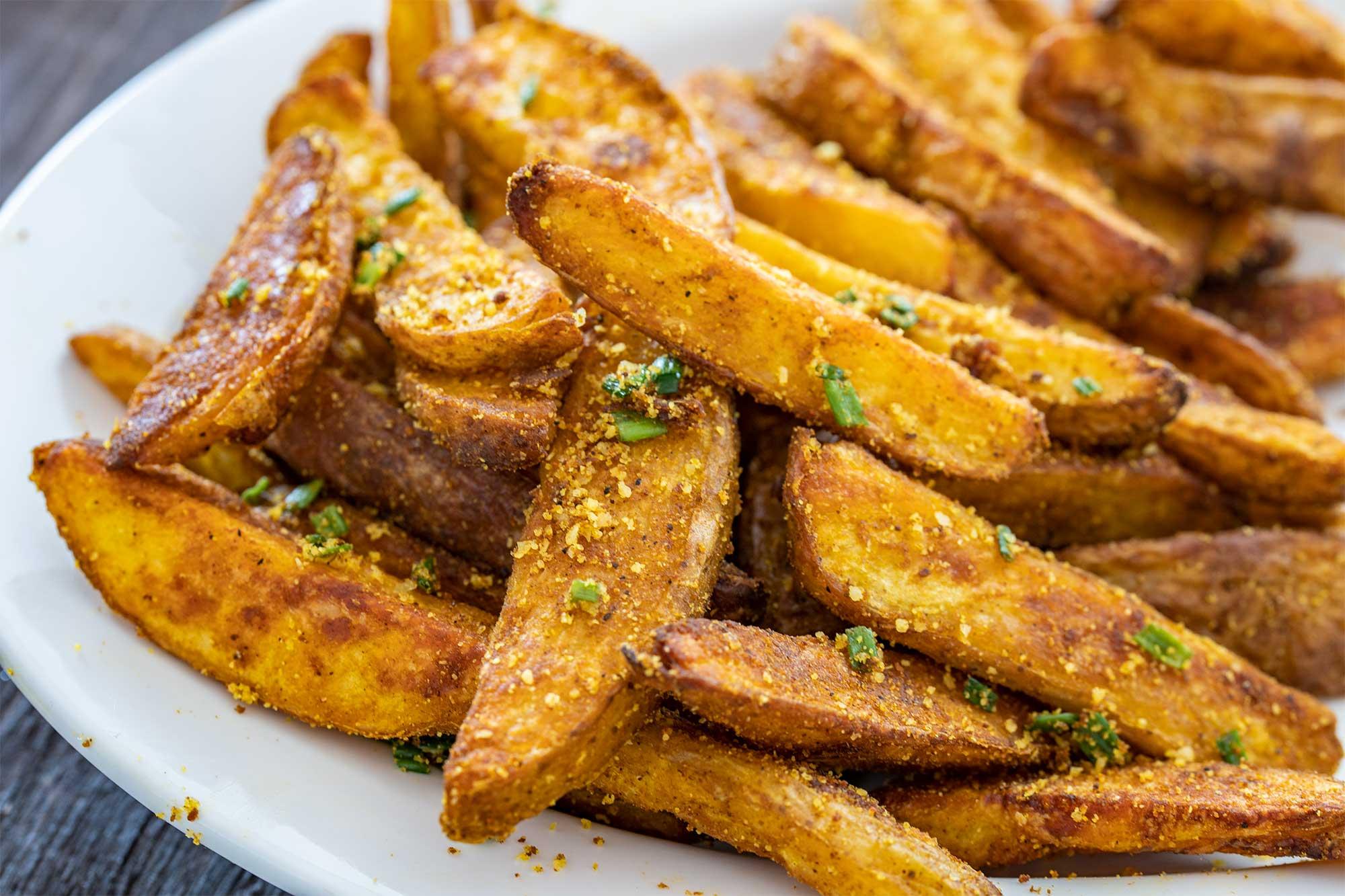 Hrustljavi krompirjevi krhlji iz pečice